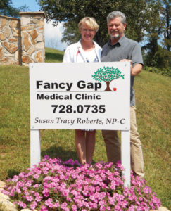 Susan and ben Roberts, Fancy Gap Medical Clinic
